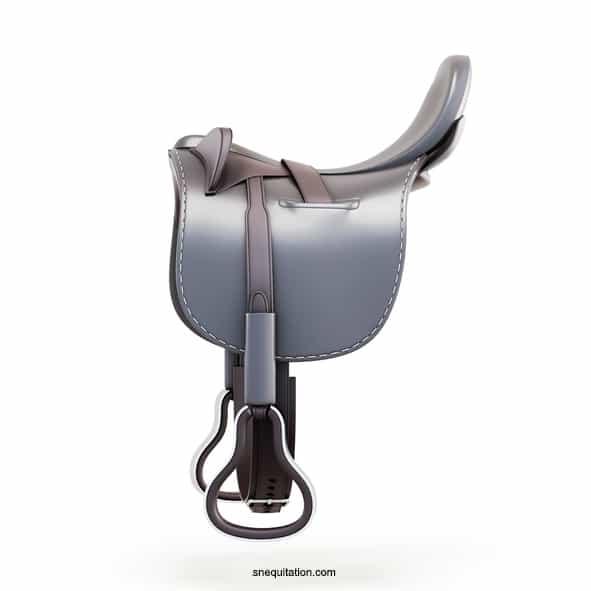Les différentes parties d'une selle de cheval